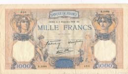 H32 - FRANCE - Billet De 1000 Francs Cérès Et Mercure - 1871-1952 Anciens Francs Circulés Au XXème