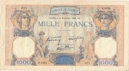 H32 - FRANCE - Billet De 1000 Francs Cérès Et Mercure - ...-1889 Anciens Francs Circulés Au XIXème
