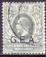 TANGANYIKA 1917 SG #50 12c Used Wmk Mult.Crown CA Opt. G.E.A. - Tanganyika (...-1932)