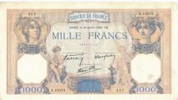 H32 - FRANCE - Billet De 1000 Francs Cérès Et Mercure - 1871-1952 Antichi Franchi Circolanti Nel XX Secolo