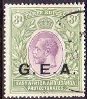 TANGANYIKA 1921 SG #67 3r Used Wmk Mult.Script CA CV £325 Opt. G.E.A. - Kenya, Uganda & Tanganyika