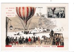 CM  -  JOURNEE Du TIMBRE 1955 - Cartes-Maximum