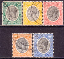 TANGANYIKA 1927-31 SG #93//98a Selection Of 5 Used Stamps - Tanganyika (...-1932)