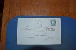 LETTRE AVEC TIMBRE CERES 20C N°45B TYPE II ; CACHET DATE CERCLE POINTILLÉ BUJALEUF MAI 71 LOSGE  GRS CHIFFRES ;EYMOUTIER - 1871-1875 Ceres