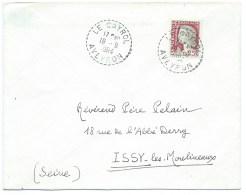 ENVELOPPE N° 1263 MARIANNE DE DECARIS / LE CAYROL D'AVEYRON POUR ISSY LES MOULINEAUX / 1964 - Poststempel (Briefe)