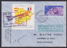 Raketenflug ZR 122 Vignette Autogramm, 1. Zucker-Raketenstart In Andorra 1962 - Europa
