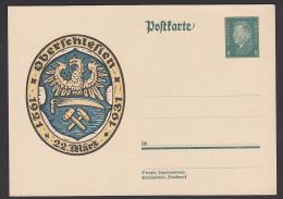 Card Oberschleisen 1921 - 1931 Hammer Und Schlägel Sensenblatt Ungebraucht, Unused Germany - Entiers Postaux