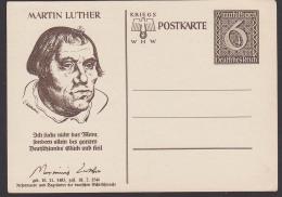 Martin Luther Reformator Begründer Der Deutschen Schriftsprache Card Ungebraucht, Unused Germany P285 - Postwaardestukken
