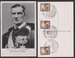 Reichsverweser Von Ungarn Admiral N. Von Horthny 3 SSt. Seines Besuches In Stuttgart, Nürnberg Und Kiel 1938 - Brieven En Documenten