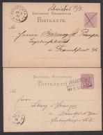 Schwiebus Sternberg 2 Ganzsachenkarten Von 1875 Nach Frankfurt /Oder - Deutschland