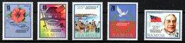 SAMOA. N°623-7 De 1987. Indépendance/Hibiscus/Drapeau. - Samoa