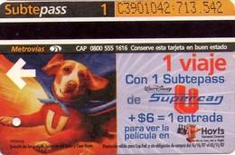 BILLETE DE METRO DE ARGENTINA DE PELICULA DE CINE (SUBTEPASS) CINEMA. 067. - Transporte