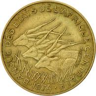 États De L'Afrique Centrale, 10 Francs, 1974, Paris, TTB, Aluminum-Bronze, KM:9 - Cameroon