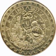 77 SEINE ET MARNE DISNEYLAND PARIS N°40 MICKEY 25 ANS DISNEY MÉDAILLE MONNAIE DE PARIS 2018 JETON TOKEN MEDALS COINS - Monnaie De Paris