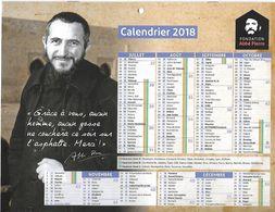 Calendrier 2018 De La Fondation Abbé Pierre Historique Association à L'intérieur - Organisations