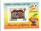 Liberia Hb 95 SIN DENTAR En Hoja - Copa Mundial