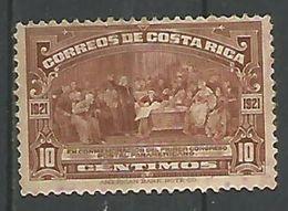 Premier Congrés Postal Panamericain A Buenos Aires 10c Brun - Costa Rica