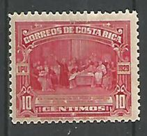 Colomb 10c Rouge Carminé - Costa Rica