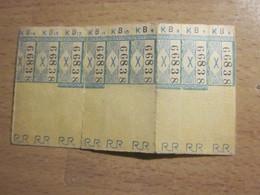 9 TICKET 6 à 14 -TITRE DE TRANSPORT BUS TRAMWAY TROLLEYBUS Tickets Simples Tramways R.R.RAIL ROTTERDAM RandstadRail (RR) - Tram