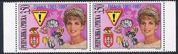 BOSNIAN SERB REPUBLIC 1997 Princess Diana Pair MNH / **.  Michel 71-72 - Bosnia And Herzegovina