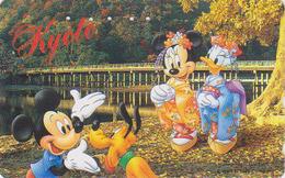 Télécarte Japon DISNEY / 110-171012 - Série Voyage Au Japon N° 3 - Minnie En Geisha Mickey à KYOTO - Japan Phonecard 1 - Disney