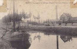 Eeklo, Eecloo, Le Canal Et La Fabrique D'engrais Chimique Standaert & ...  BESCHADIGD (pk42786) - Eeklo