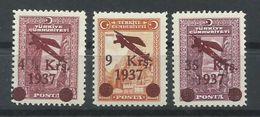 TURQUIA  YVERT  AEREO  6/8   MH  * - 1921-... República