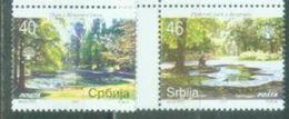 SRB 2007-192-3 SAVE NATUR TREES, SERBIA, 1 X 2v, MNH - Bäume