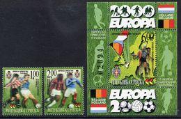 BOSNIAN SERB REPUBLIC 2000 European Football  MNH / **.  Michel 170-71 + Block 2 - Bosnia And Herzegovina