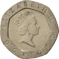 Grande-Bretagne, Elizabeth II, 20 Pence, 1991, TTB+, Copper-nickel, KM:939 - 1971-… : Monnaies Décimales