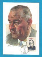 USA 1986 , Lyndon B. Johnson - Maximum Card - First Day Chicago MAY 22 1986 - Maximumkarten (MC)