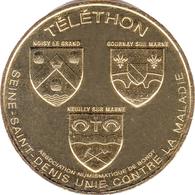 93 SEYNE SAINT-DENIS BONDY TÉLÉTHON N°9 MÉDAILLE MONNAIE DE PARIS 2017 JETON TOKEN MEDALS COINS - Monnaie De Paris
