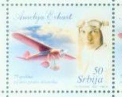 SRB 2007-199 75°A FLIGHT ACROSS ATLANTIC AMELIA ERHART, SERBIA, 1 X 1v, MNH - Flugzeuge