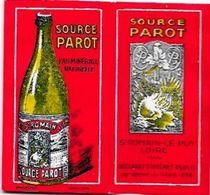 Papier à Cigarettes Publicité Publicitaire Complet De Ses Feuilles Source Parot Loire Saint Romain Le Puy - Objets Publicitaires