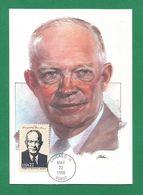 USA 1986 , Dwight D. Eisenhower - Maximum Card - First Day Chicago MAY 22 1986 - Maximumkarten (MC)