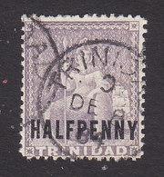 Trinidad, Scott #62, Used, Britannia Surcharged, Issued 1879 - Trinidad & Tobago (...-1961)