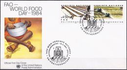 United Nations (Vienna) 1984 - FDC : World Food Day ( Mi And YT 39/40 ) - FDC