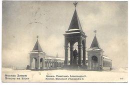 RUSSIE - MOSCOU En Hiver - Kremlin, Monument D'Alexandre II - Russie