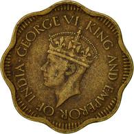 Ceylon, George VI, 10 Cents, 1944, TTB, Nickel-brass, KM:118 - Sri Lanka