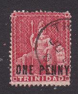 Trinidad, Scott #64, Used, Britannia Surcharged, Issued 1882 - Trinidad & Tobago (...-1961)