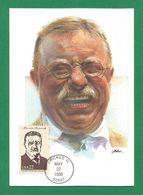 USA 1986 , Theodore Roosevelt - Maximum Card - First Day Chicago MAY 22 1986 - Maximumkarten (MC)