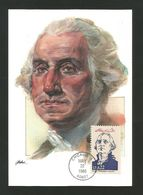 USA 1986 , George Washington - Maximum Card - First Day Chicago MAY 22 1986 - Maximumkarten (MC)