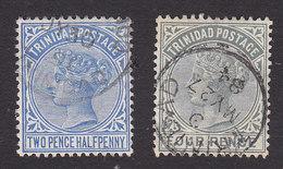 Trinidad, Scott #70-71, Used, Victoria, Issued 1883 - Trinidad & Tobago (...-1961)