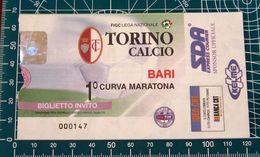 BIGLIETTO TORINO - BARI (INVITO) - Biglietti D'ingresso