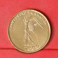 RWANDA 10 FRANCS 2009 -    KM# 24 - (Nº20272) - Rwanda
