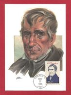 USA 1986 , William H. Harrison - Maximum Card - First Day Chicago MAY 22 1986 - Maximumkarten (MC)