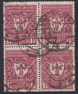 GERMANIA - ALLEMAGNE - 1922 - Quartina Obliterata Yvert 214. - Usati