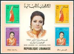 1974 Libano Lebanon Georgina Rizk Miss Universo  MNH** Fiog90 - Libano