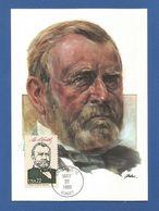 USA 1986 , Ulysses S. Grant - Maximum Card - First Day Chicago MAY 22 1986 - Maximumkarten (MC)