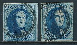 Belgien Nr. 4 B (2 Stück) ~ Michel 17,-- Euro - 1849-1850 Médaillons (3/5)